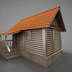 现代古建小屋子3D模型【ID:134766772】