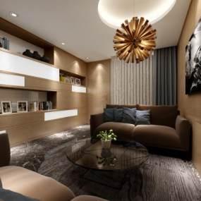 现代VIP休息室会客厅3D模型【ID:735353556】