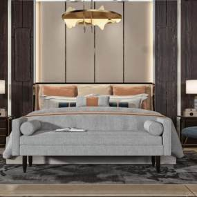 现代卧室3D模型【ID:854011753】