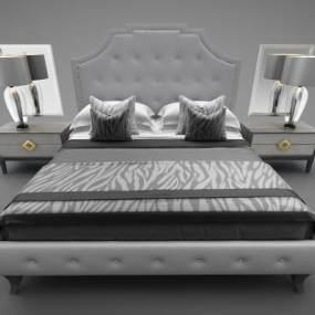 現代風格床具3D模型【ID:848770715】