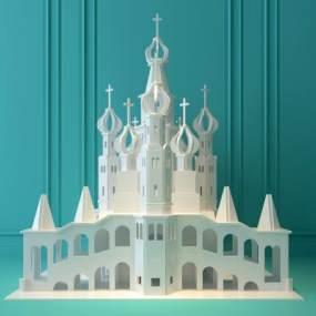 现代公主城堡3D模型【ID:631768388】