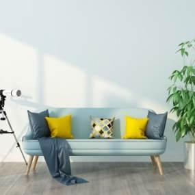 现代休闲沙发组合3D模型【ID:635724553】