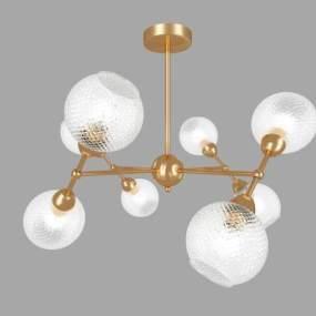现代水晶吊灯 3D模型【ID:741540863】