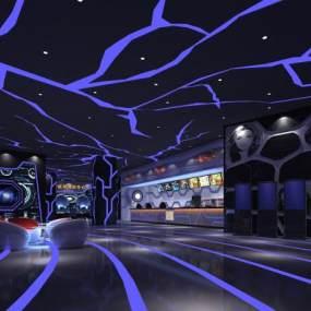 后现代电影院3D模型【ID:643449827】