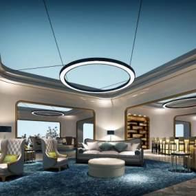 现代机场贵宾休息室3D模型【ID:744025003】