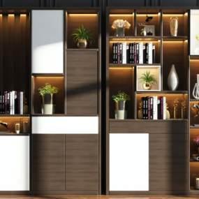 现代门厅装饰柜组合3D模型【ID:148390178】