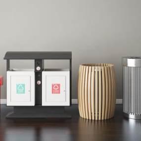 现代垃圾桶 3D模型【ID:436210581】