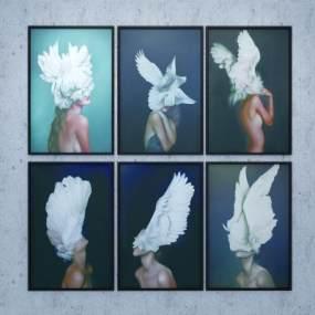 现代翅膀人物装饰画365彩票【ID:235619974】