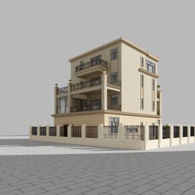 欧式别墅外观3D模型【ID:131600330】