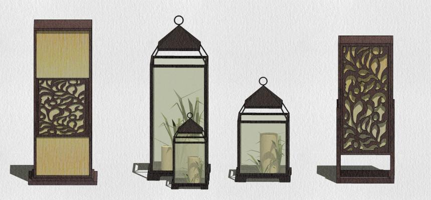中式灯具SU模型【ID:449181236】
