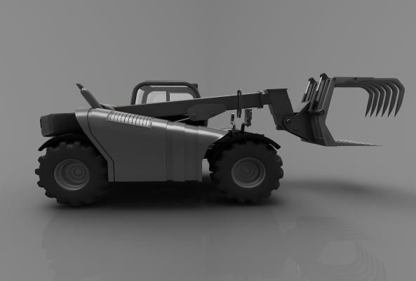 现代风格推土车3D模型【ID:443580769】