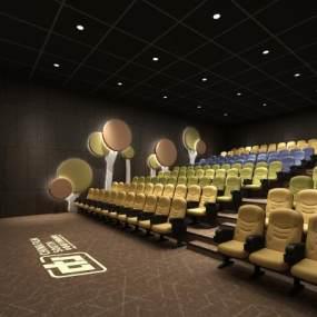 现代电影院放映厅3D模型【ID:643449815】