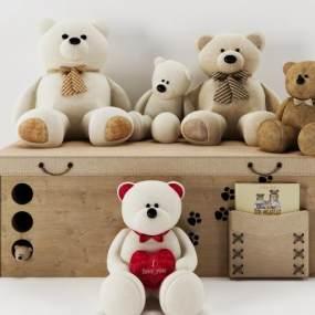 现代儿童玩偶3D模型【ID:332545423】