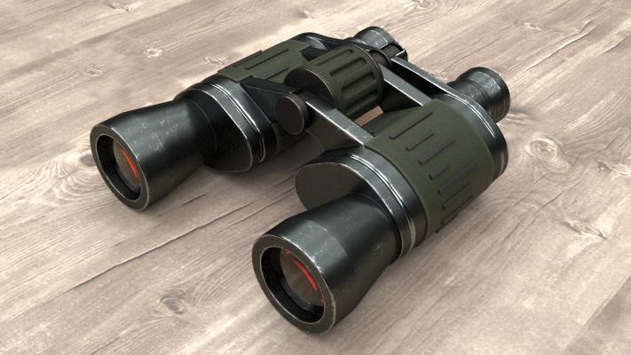 現代金屬望遠鏡3D模型【ID:452518216】