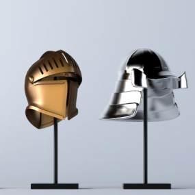 歐式騎兵頭盔3D模型【ID:652070302】