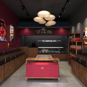新中式熟食店3D模型【ID:942412896】