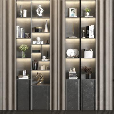 現代實木裝飾柜3D模型【ID:151211182】