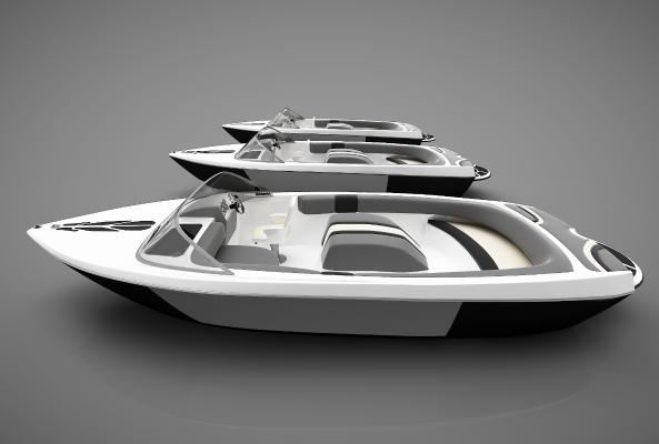 現代風格小船3D模型【ID:443145847】