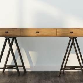 现代书桌椅3D模型【ID:936161056】