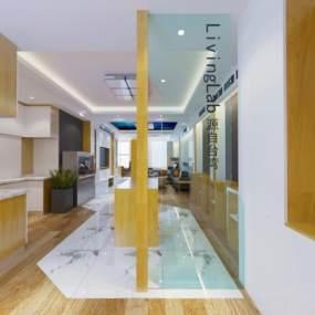 现代智能家居展厅办公室3D模型【ID:933616037】