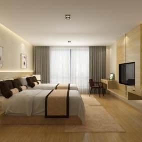 新中式賓館3D模型【ID:751030380】