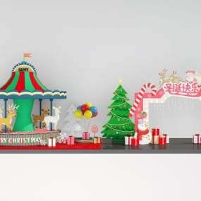 现代圣诞节3D模型【ID:250640580】