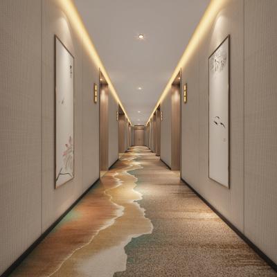 新中式酒店走廊3D模型【ID:646349010】