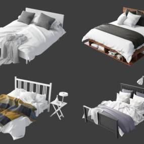現代床具組合3D模型【ID:851223771】
