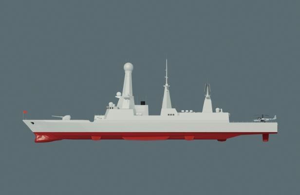 现代军舰3D模型【ID:452450848】