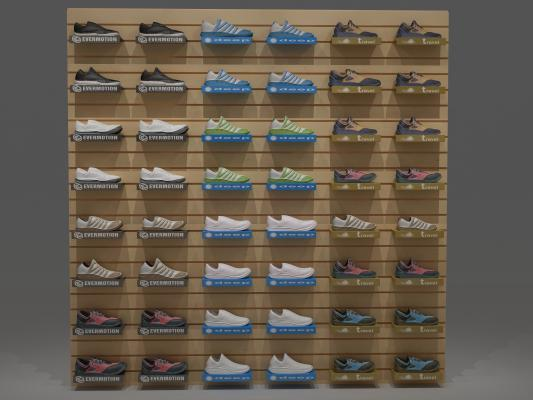 現代鞋子鞋架3D模型【ID:131790132】