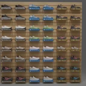 现代鞋子鞋架3D模型【ID:131790132】