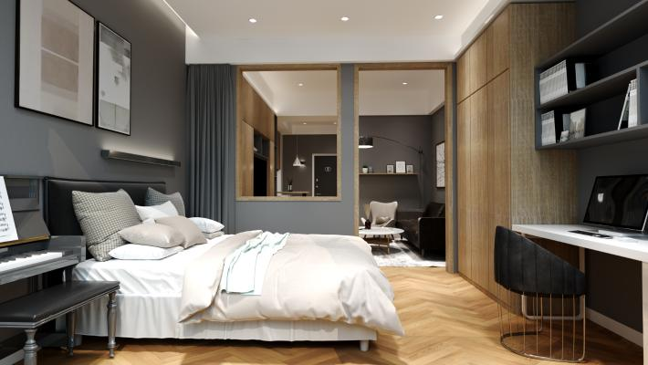 现代小公寓3D模型【ID:542413278】