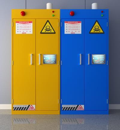 现代危险品安全柜3D模型【ID:444928362】
