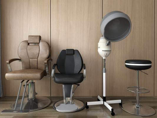 现代理发椅3D模型【ID:731464726】