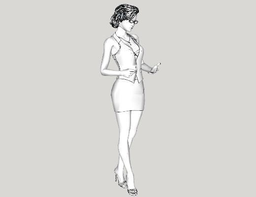 现代人物SU模型【ID:151892750】