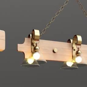 现代艺术造型吊灯3D模型【ID:730448891】