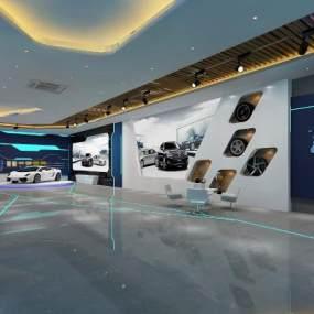 现代汽车展厅3D模型【ID:934774781】