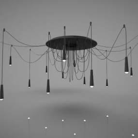 現代風格吊燈3D模型【ID:748838846】