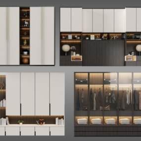 現代衣柜3d模型【ID:142401442】