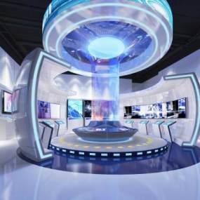 现代风格展厅3D模型【ID:943049766】