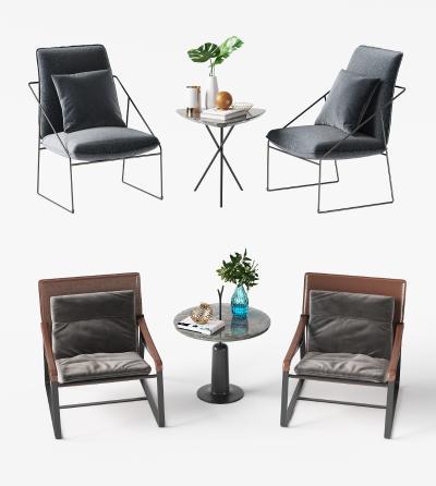 现代休闲椅3D模型【ID:753090010】