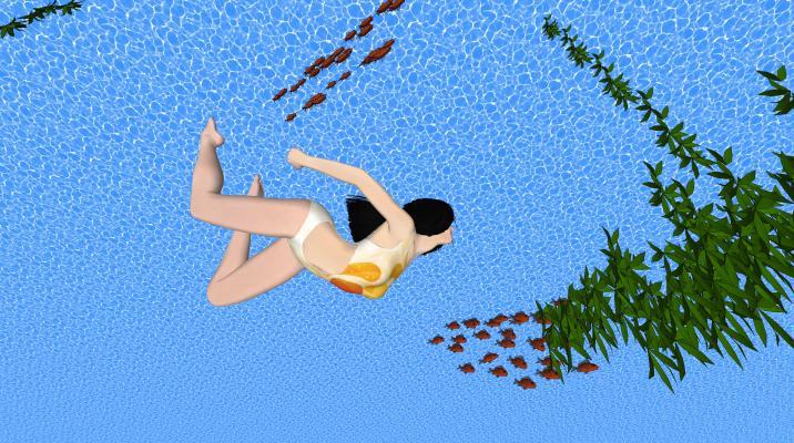 現代泳衣美女SU模型【ID:147383768】