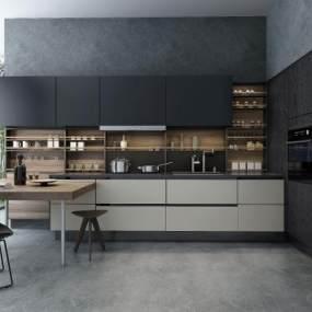 现代厨房3D模型【ID:534786346】