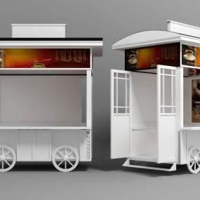 欧式售卖亭售卖车3D模型【ID:231313485】