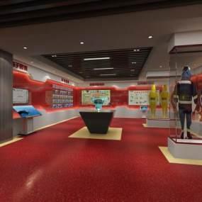 消防电子科技展厅 3D模型【ID:941384770】