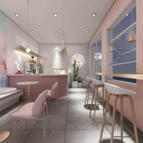 北欧奶茶店3D模型【ID:646341412】