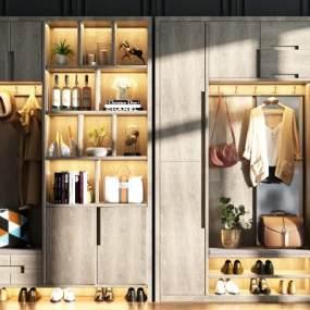 現代鞋柜3D模型【ID:149020207】