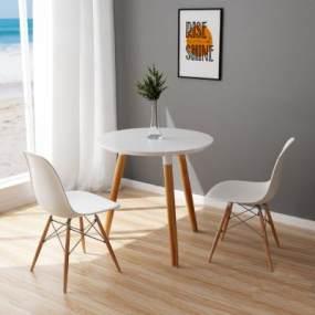 北欧休闲桌椅组合3D模型【ID:849061859】