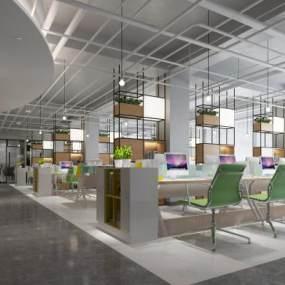 现代办公室3D模型【ID:953752088】