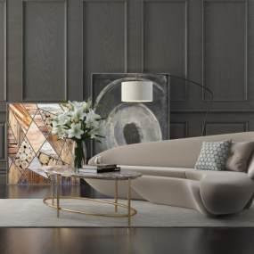 现代异形沙发3D模型【ID:632951613】